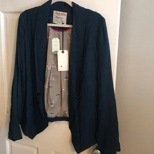 Cartonnier (Anthropologie) blazer teal NWT